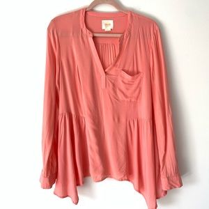 Maeve Anthropologie Peach Blouse Size 10